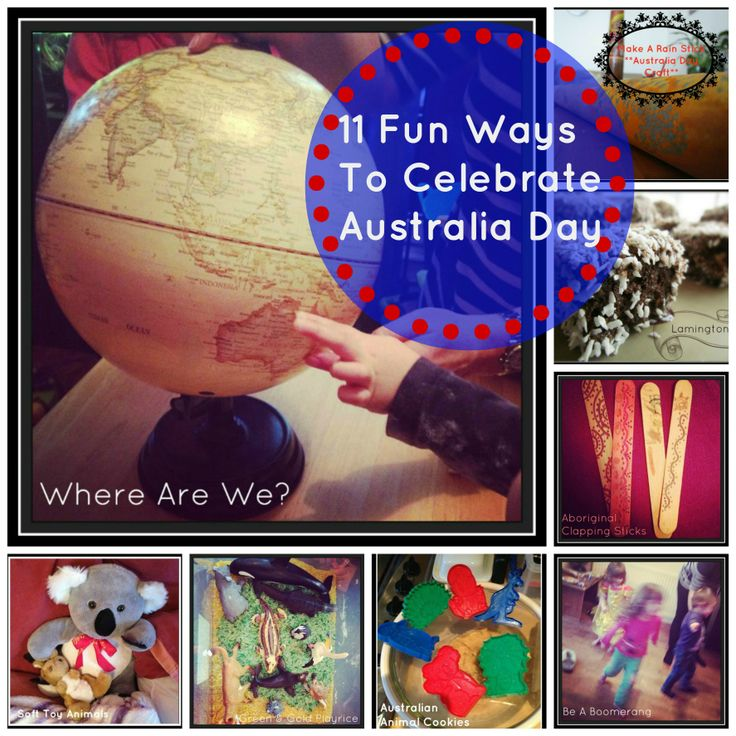 11 Fun and easy ways for children to celebrate #Australiaday; for use with Countries and Cultures!