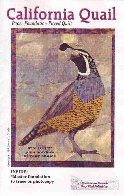 Classroom Hanging Decor ~ California quail quilting quilt patterns quilts