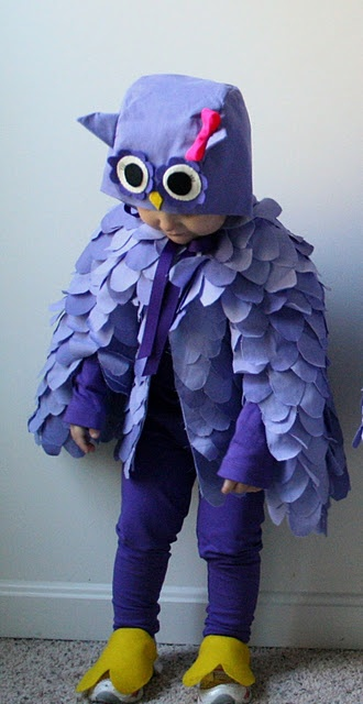 Owl Halloween Costume, from The Student/Teacher - http://www.thestudentteacher.com/journal/2011/11/3/happy-owl-o-ween.html. Adaption of an Oliver + s pattern.