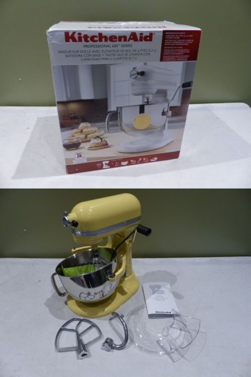 Mixers Countertop 133701: Kitchenaid Pro 600 Series 6Qt Majestic Yellow Stand Mixer Kp26m1xmy -> BUY IT NOW ONLY: $286.99 on eBay!