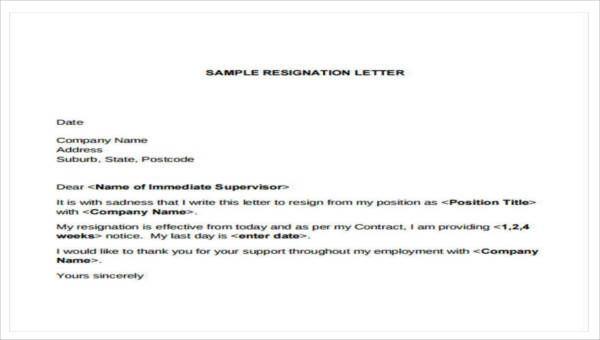 Best Resignation Letter Sample Templates Resignation Letter