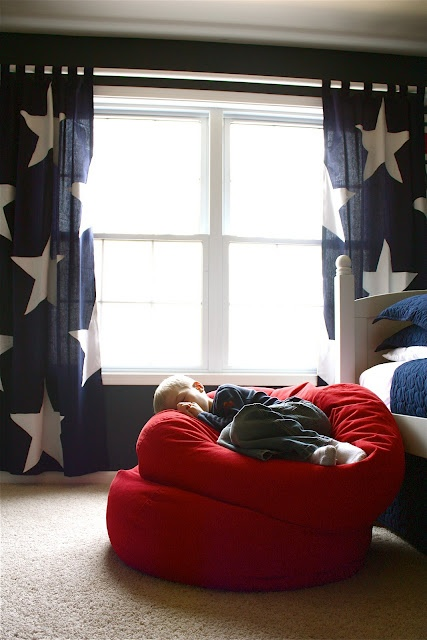 Definitely need to get a bean bag for little man to go in his room when he's a little older.