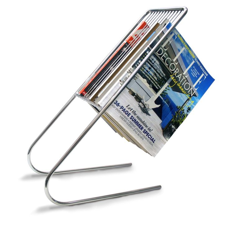A refreshing take on magazine racks, the Float elegantly hangs your magazines in an organized, easy-to-find manner