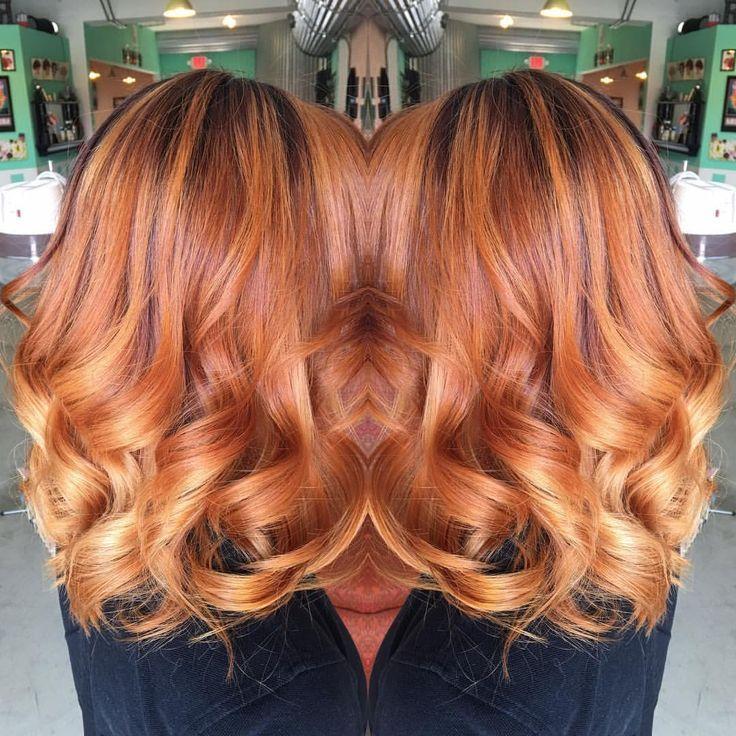 Pin By Rosa Bellici S Style On Hair Hair Shadow Balayage Hair Copper Fox Hair Dye
