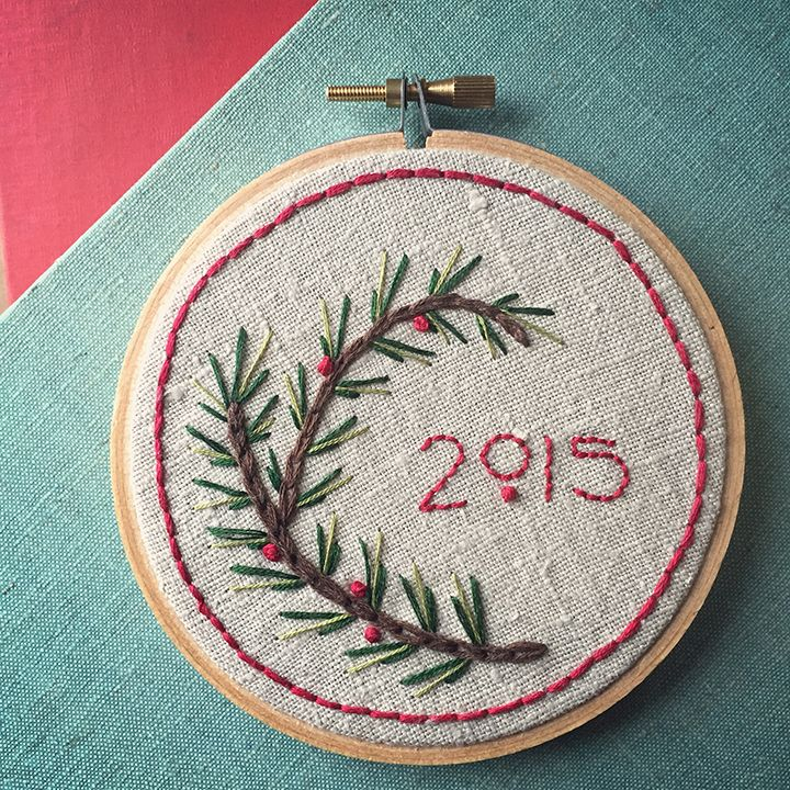 Make an adorable Holiday Embroidery Sampler for your friends and family with this easy-to-follow tutorial from Robert Mahar.