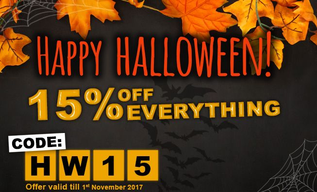 Happy Halloween! -15% off everything #Poppers #Halloween
