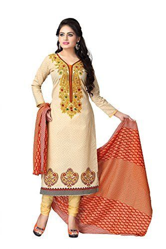 Kya khoob lagati ho, badi sundar dikhati ho ! Fir se kaho kahate raho, achha lagata hai, Jeevan kar har sapana ab sacha lagata hai !!  Stylish, economic, good quality, timely delivery. Vaamsi Womens Polyester Cotton Mix A-Line Salwar Suit Dress Material (Cocp7 _Beige _Free Size)  #ShopAtGoodPrice #Vaamsi #Womens #PolyesterCottonMix #SalwarSuit #DressMaterial #FreeSize #amazon #flipkart #snapdeal…