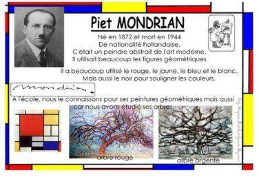 L'arbre gris et l'arbre rouge de Mondrian