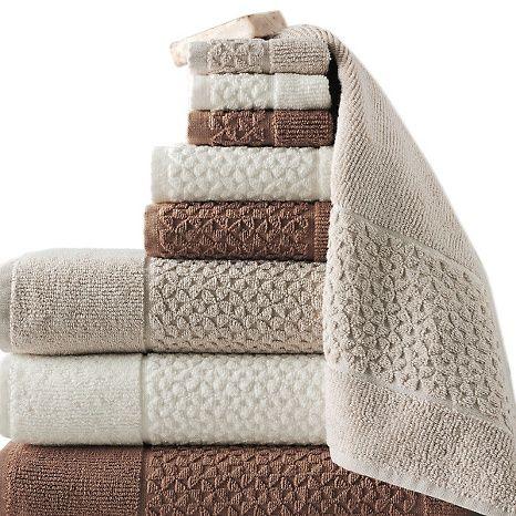 Concierge Collection Jacquard Turkish 9pc Towel Set