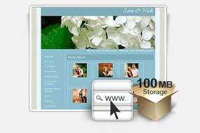 Free wedding website. Saves money on stationary, and eco-friendly ;) Upload pictures, and even pick a song to play when guests view the website.