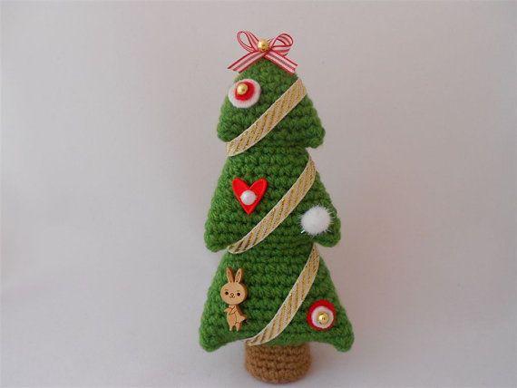 Crochet Christmas Tree Christmas Decoration by PinkOliveGifts
