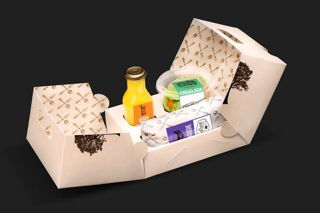 Al Parque's Portable Lunch Box Design Totes a Salad, Sandwich and Drink #branding trendhunter.com