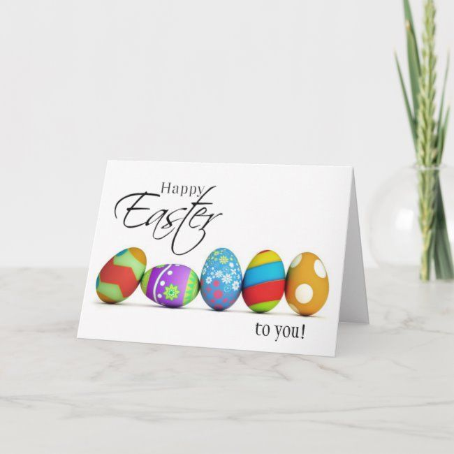 Happy Easter Wishes Card Zazzle Com In 2020 Easter Wishes