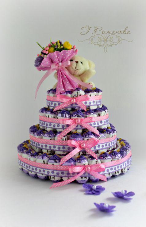 (17) Gallery.ru / Детский тортик с мишкой) - Торты и тортики из конфет) - Galina2405