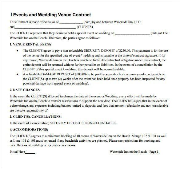 Venue Rental Contract Template Free Unique Sample Vendor Contract Template 13 Free Samples Rental Agreement Templates Venue Rental Contract Template