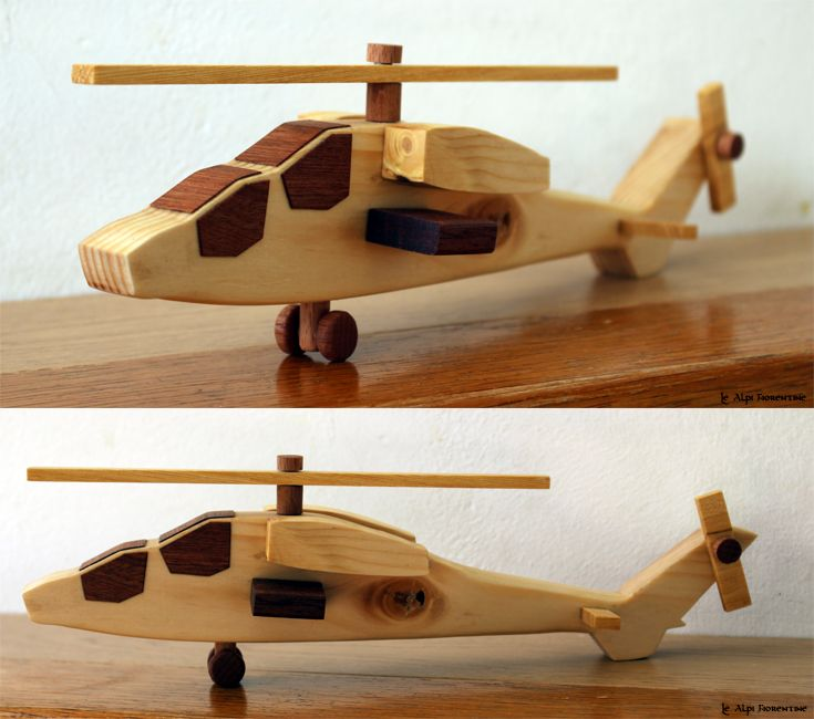 Wooden Toys Helicopter Handmade.