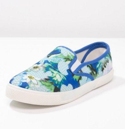 Anna Field Półbuty slip-on w kwiaty dark blue