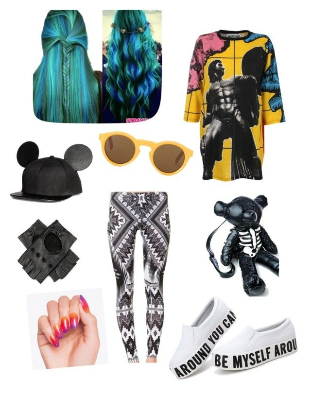 """Kreativ-ledig"" by sandrajohansson-2 on Polyvore featuring Moschino, CÉLINE, Black and Current Mood"