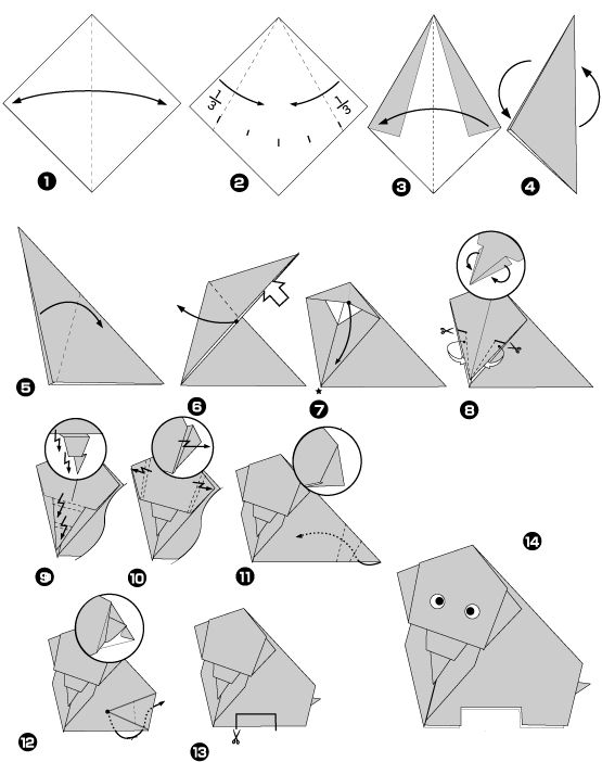 Origami di elefante