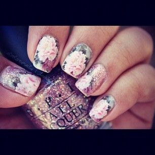 : Rose, Nail Polish, Nailart, Nail Design, Nails, Beauty, Flower, Nail Art