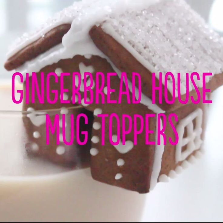 This is the cutest take on milk and cookies! Decorate the houses any way you like to add a festive touch to your mugs!