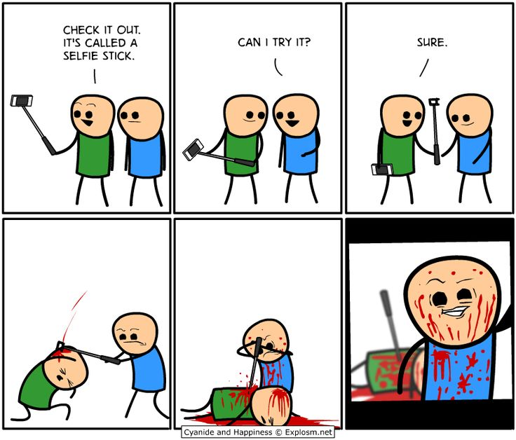 Viñeta sobre los 'palos' de Cyanide and Happiness (explosm.net)