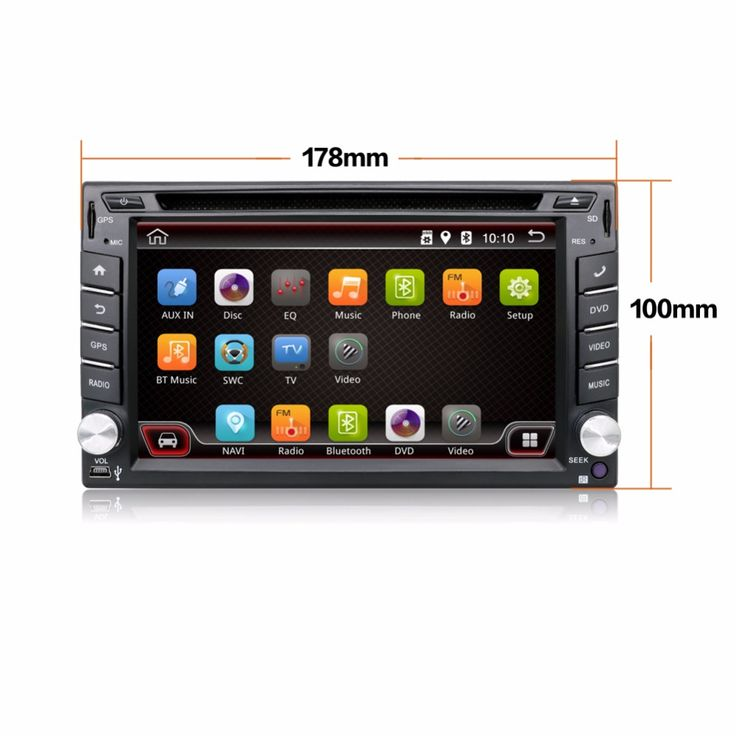 4.4 Android Car DVD Stereo camera Quad 4 Core Capacitive Double 2 Din Car PC CD GPS BT WiFi 3G Radio HD Parking