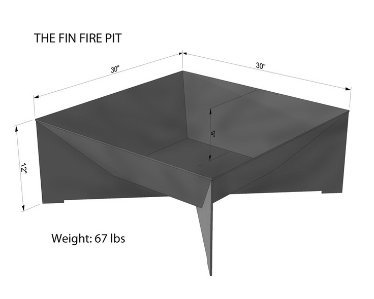 """austinoutdoor: The Fin Fire Pit is the latest addition to our products. The FIN is the perfect complement to your modern lifestyle. Its clean lines and thick 3/16"""""""" plate will look great whether you are burning a fire or simply as an accent to your space. The fire pit is made to last and is sold in natural steel. The steel will rust to a deep brown patina."""