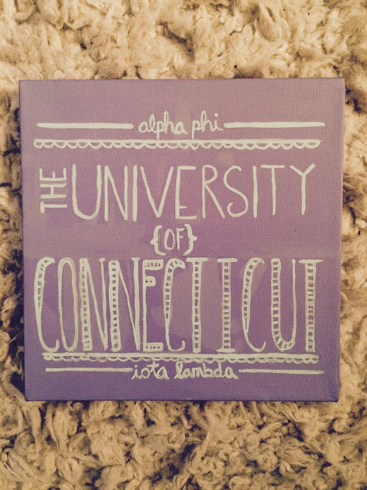 Alpha Phi UConn Big & Little Crafts! UConn Canvas #CraftyPhis #AlphaPhiUConn