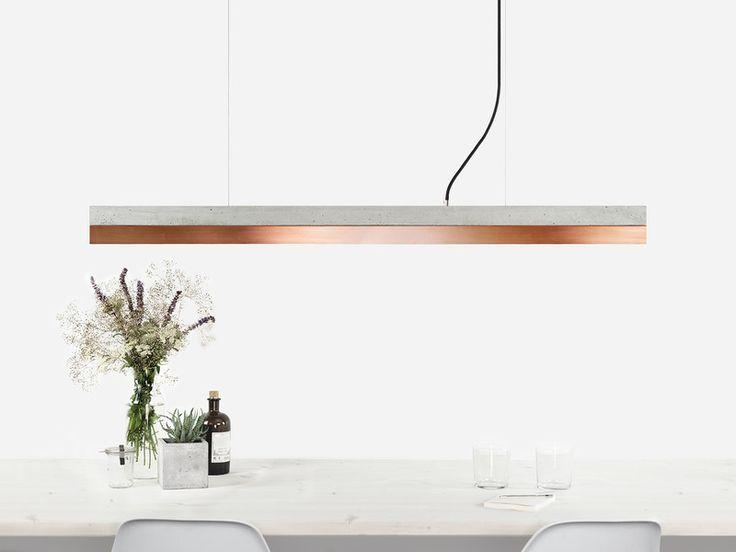 Hängelampen - Beton Kupfer Hängeleuchte [C1] minimalistisch - ein Designerstück von GANTlights bei DaWanda
