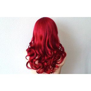 Red wig. Wine red wig. Medium length Dark red Curly long side bangs Durable heat resistant wig for Cosplay or daytime use.