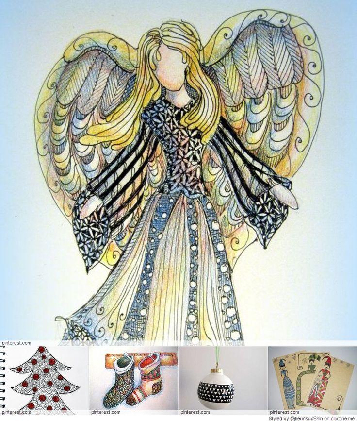 Christmas Zentangle Patterns | ☆ Art & Design | Pinterest