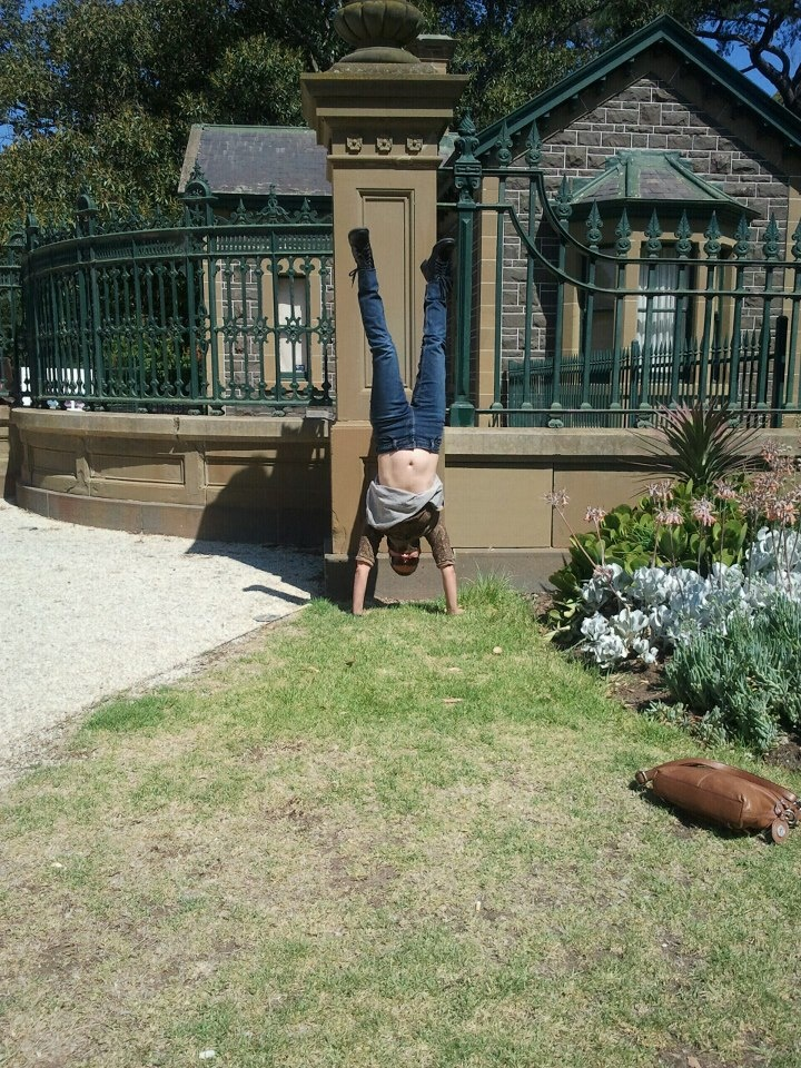 Feb 12: Nearly exposing all outside the Werribee Mansion...But look Ma! NO WALL!