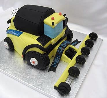 combine harvester birthday cake from sugarlicious ltd