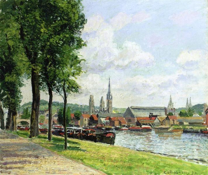 The+Cours+la+Riene,+The+Notre+Dame+Cathedral,+Rouen,+1898+-+Camille+Pissarro
