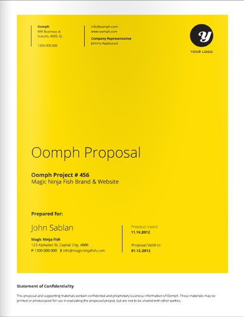12 Best Proposal Covers Images On Pinterest | Annual Reports