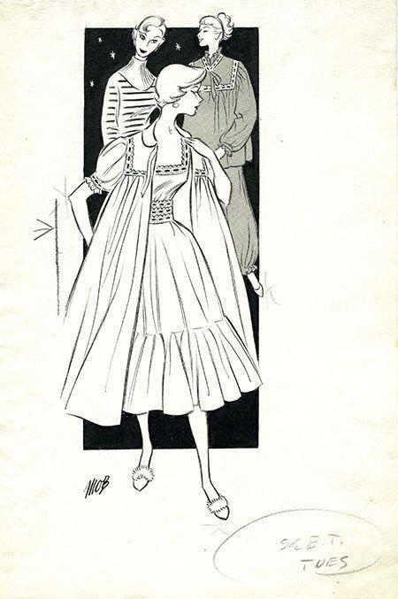 Margaret Oliver Brown fashion illustrator (archive reference: DC/51/2/14).
