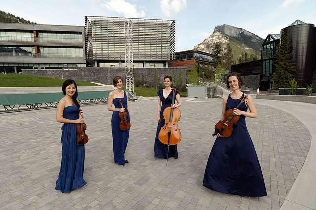 The Cecilia String Quartet at The Banff Centre (Photo Credit: Craig Hall) by ceciliastringquartet, via Flickr Musique classique / Classical Music