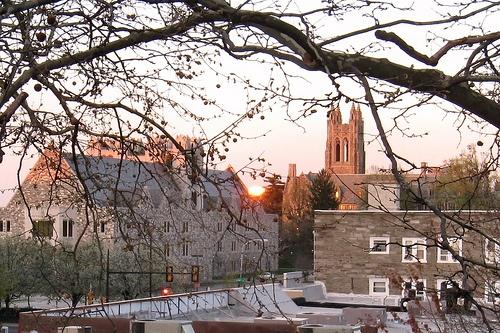 Sunrise over Saint Joseph's University in Philadelphia