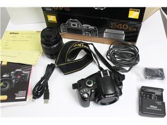 Nikon D40 systemkamera. www.simplet.se säljer din systemkamera åt dig!