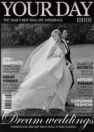 Our Bride-to-Be Magazine cover featuring Tricia, photo courtesy of Blumenthal Photography! An oldie but a goodie! x
