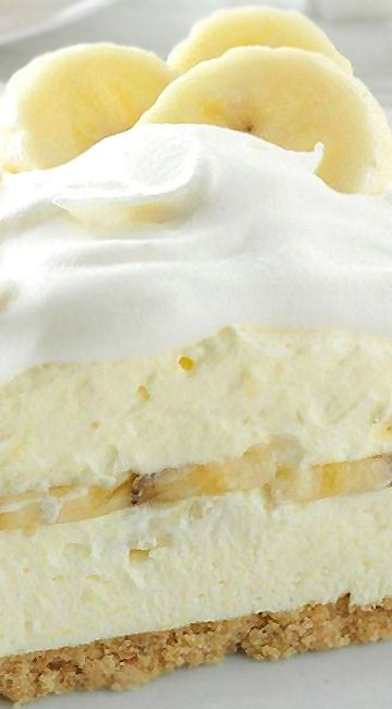 Favorite Banana Cream Pie Recipe ~ This dreamy dessert has a wonderful banana flavor... It looks so pretty…and it cuts easily, too