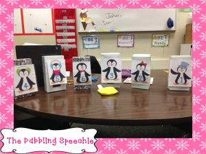 Fun Winter Themed Penguin reinforcer game for speech therapy!