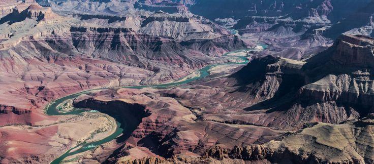 Meanderende Colorado rivier door de Grand Canyon