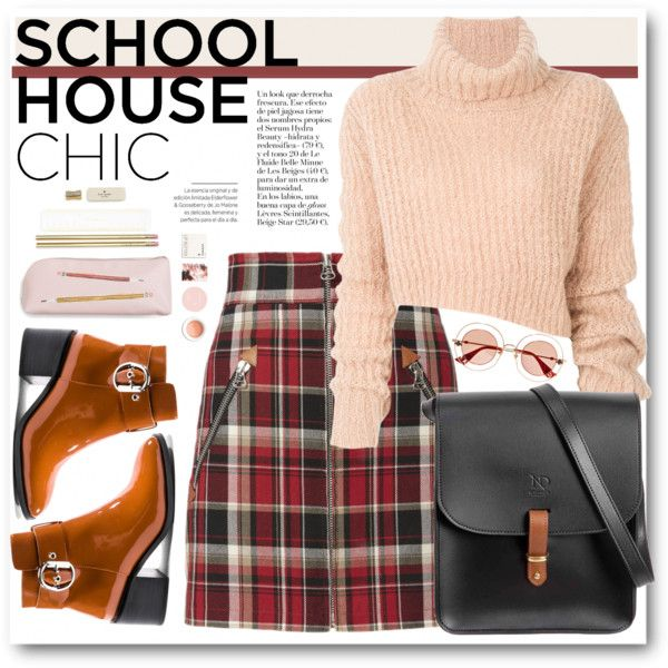School Chic by crblackflag on Polyvore featuring polyvore, fashion, style, Ann Demeulemeester, rag & bone, Jeffrey Campbell, N'Damus, Gucci, Korres and Kate Spade