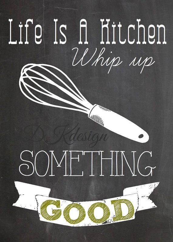 set of 4 5x7 kitchen themed chalkboard style prints kitchen quotes printables kitchen on kitchen quotes printable id=83485