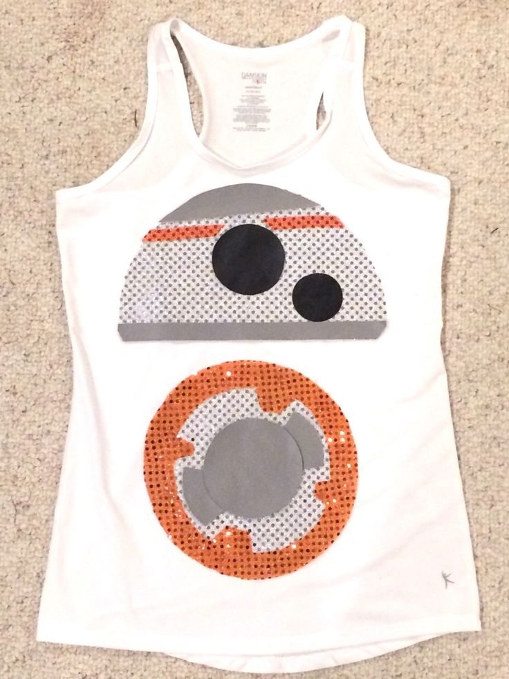 A personal favorite from my Etsy shop https://www.etsy.com/listing/473881881/bb8-themed-racerback-shirt