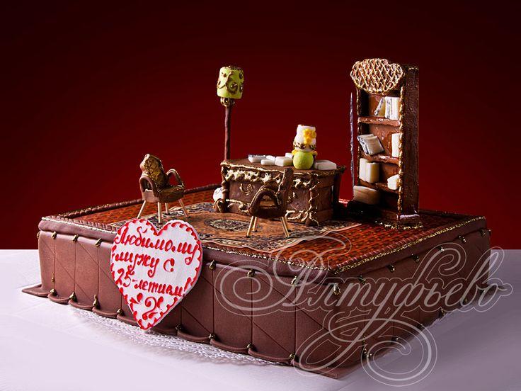 Подарочный торт изысканный интерьер № 368