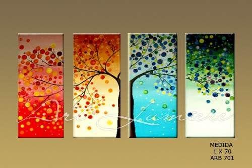 Cuadros tripticos arboles buscar con google tr pticos - Ideas para pintar cuadros ...