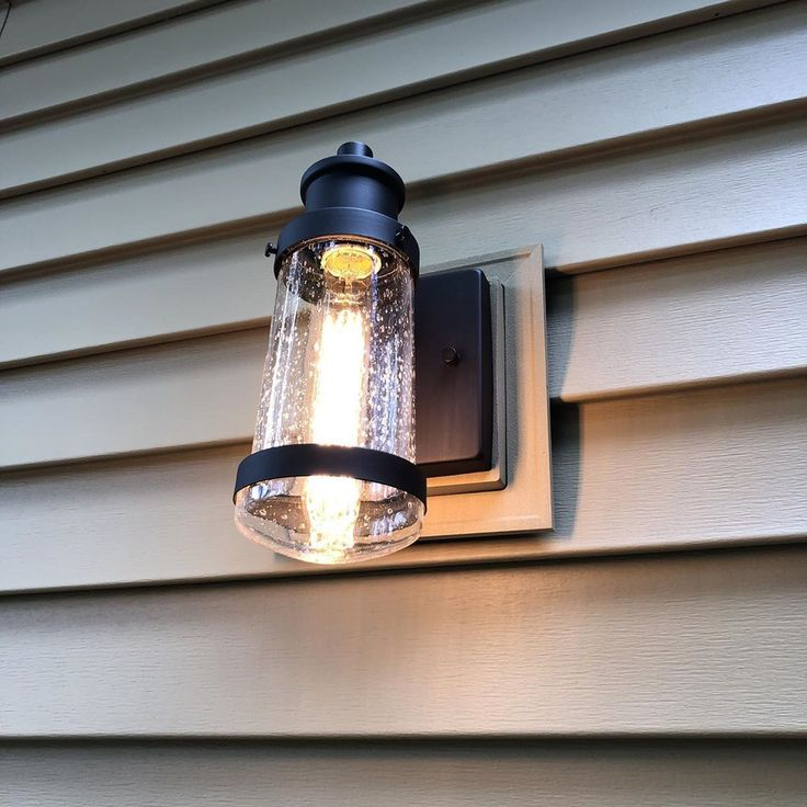 Globe Electric exterior vintage turner light fixture with #edisonbulb is the per…
